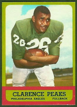 Clarence Peaks 1963 Topps football card