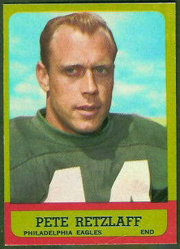 Pete Retzlaff 1963 Topps football card