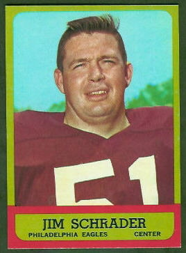 Jim Schrader 1963 Topps football card