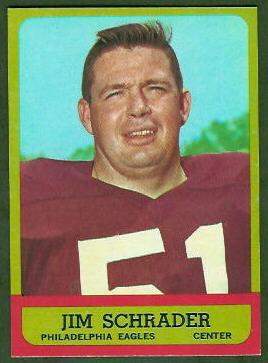 Jim Schrader 1963 Topps football card