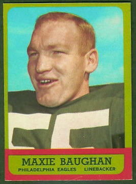 Maxie Baughan 1963 Topps football card
