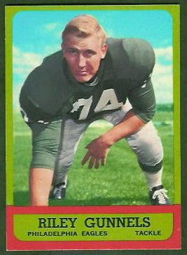 Riley Gunnels 1963 Topps football card