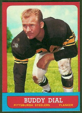 Buddy Dial 1963 Topps football card
