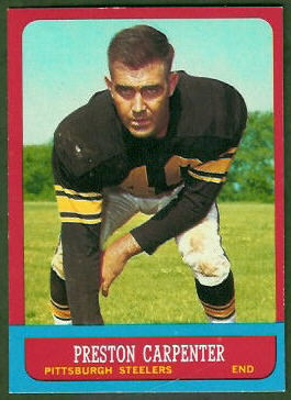 Preston Carpenter 1963 Topps football card
