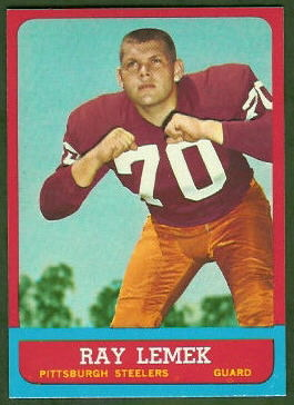 Ray Lemek 1963 Topps football card