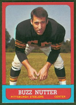 Buzz Nutter 1963 Topps football card