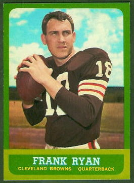 Jim Brown Cleveland >> Frank Ryan - 1963 Topps #13 - Vintage Football Card Gallery