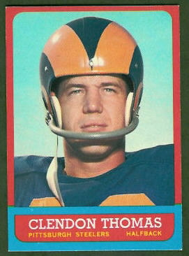 Clendon Thomas 1963 Topps football card