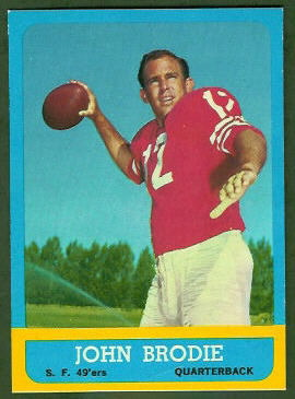 John Brodie 1963 Topps football card