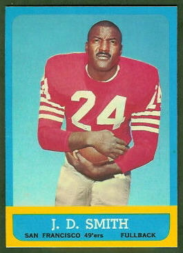 J.D. Smith 1963 Topps football card