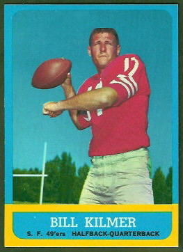 Bill Kilmer 1963 Topps football card