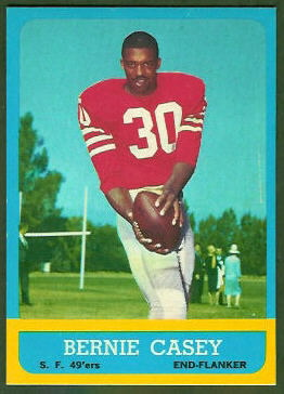Bernie Casey 1963 Topps football card