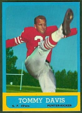 Tommy Davis 1963 Topps football card