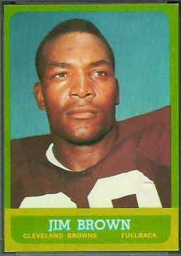 Jim Brown 1963 Topps football card