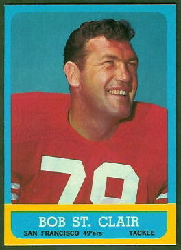 Bob St. Clair 1963 Topps football card