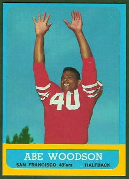 Abe Woodson 1963 Topps football card
