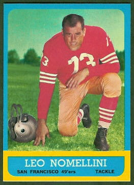 Leo Nomellini 1963 Topps football card