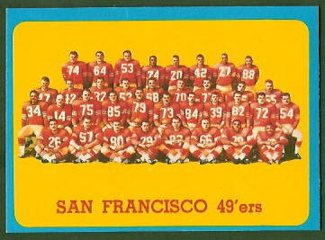 San Francisco 49ers Team 1963 Topps football card