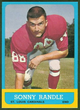 Sonny Randle 1963 Topps football card