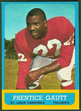 Prentice Gautt 1963 Topps football card