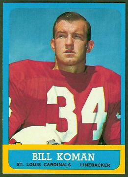 Bill Koman 1963 Topps football card