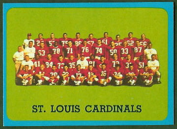 St. Louis Cardinals Team 1963 Topps football card