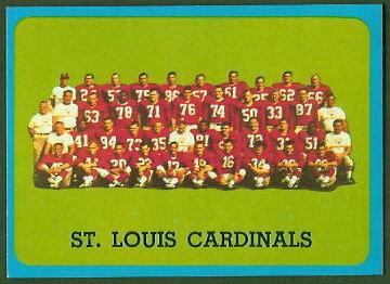 St. Louis Cardinals Team 1963 Topps football card