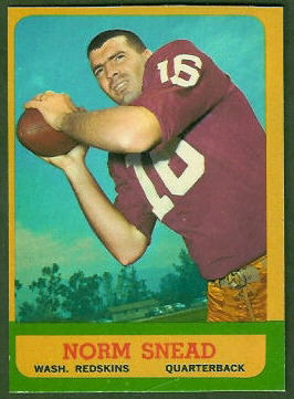 Norm Snead 1963 Topps football card