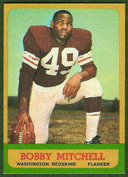 Bobby Mitchell 1963 Topps football card