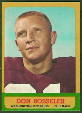 Don Bosseler 1963 Topps football card