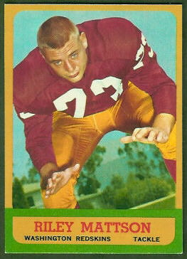Riley Mattson 1963 Topps football card