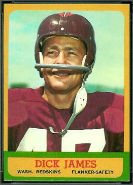 Dick James 1963 Topps football card