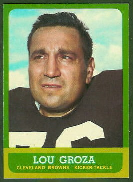 Lou Groza 1963 Topps football card