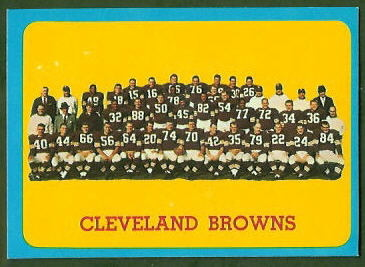 Cleveland Browns Team 1963 Topps football card