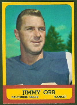Jimmy Orr 1963 Topps football card