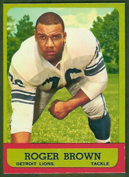 Roger Brown 1963 Topps football card