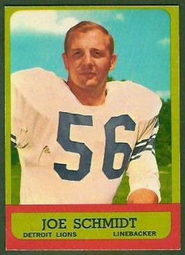 Joe Schmidt 1963 Topps football card