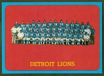 Detroit Lions Team 1963 Topps football card