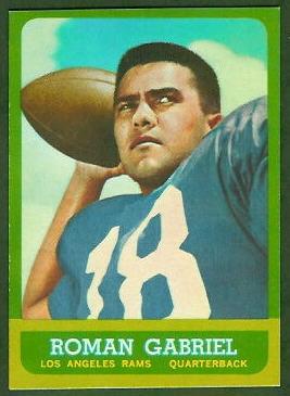 Roman Gabriel 1963 Topps football card