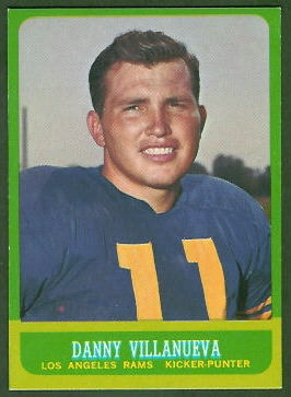 Danny Villanueva 1963 Topps football card