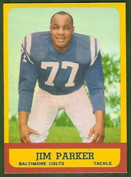 Jim Parker 1963 Topps football card