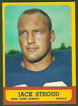 Jack Stroud 1963 Topps football card