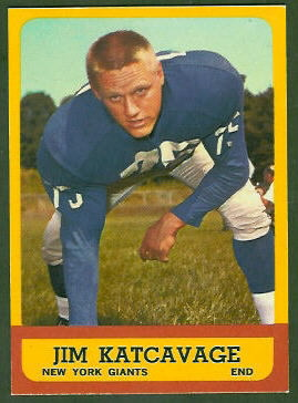 Jim Katcavage 1963 Topps football card