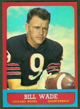 Bill Wade 1963 Topps football card