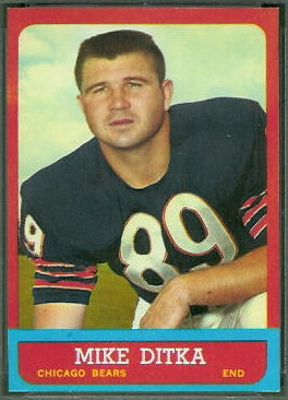 Mike Ditka 1963 Topps football card