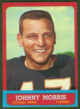 Johnny Morris 1963 Topps football card