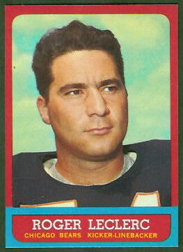Roger LeClerc 1963 Topps football card
