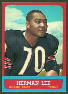 Herman Lee 1963 Topps football card