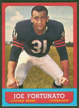 Joe Fortunato 1963 Topps football card