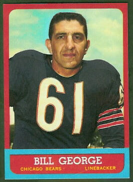 Bill George 1963 Topps football card